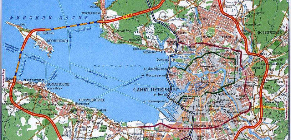 В октябре будет достроена кольцевая дорога Санкт-Петербурга
