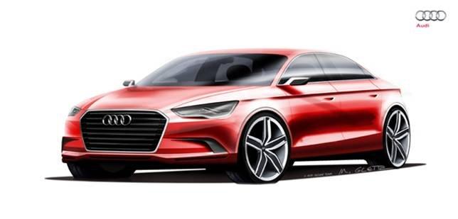 "Ауди (Audi) A3 покажут с кузовом ""нотчбек"" на автосалоне в Женеве"
