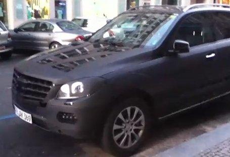 Шпионское видео новинки Мерседес МЛ (Mercedes-Benz ML)