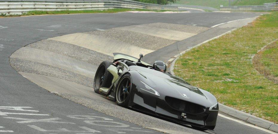 Пежо ЕХ1 (Peugeot ЕХ1) установил мировой рекорд скорости