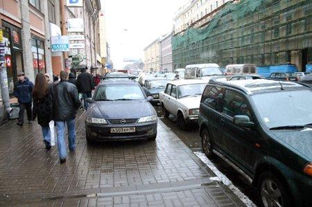 Разрешена парковка на тротуарах