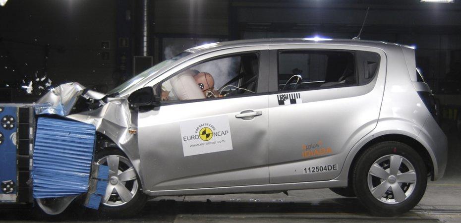 Седан Шевроле Авео и кроссовер Каптива получили пять звезд в рейтинге EuroNCAP