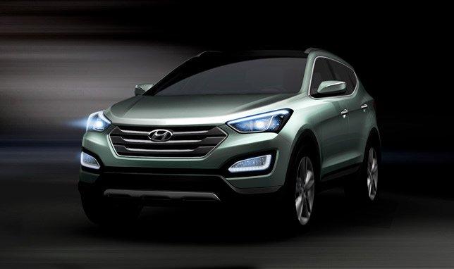 Hyundai представляет первые изображения нового Santa Fe