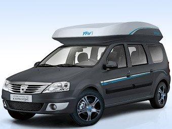 Dacia создала 2-этажный автомобиль-кемпер на базе Logan