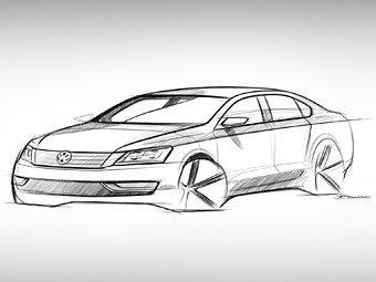 Volkswagen показал эскиз седана для американского рынка