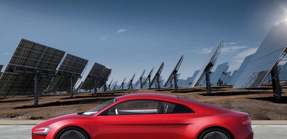 Audi создала электрокупе e-tron
