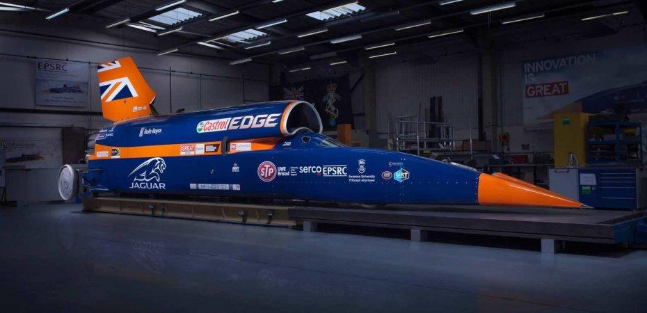 Bloodhound SSC разгонится до 1 609 км/ч (видео)