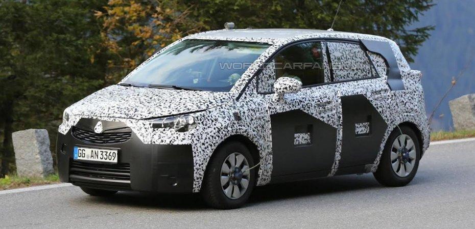 Opel Meriva 2017 проходит тесты