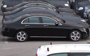 Накрыта стоянка новых Mercedes E
