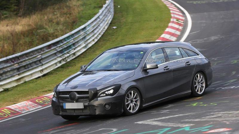 Mercedes CLA на тестах