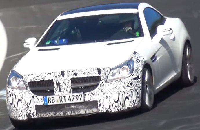 Mercedes SLC попался на Нюрбургринге