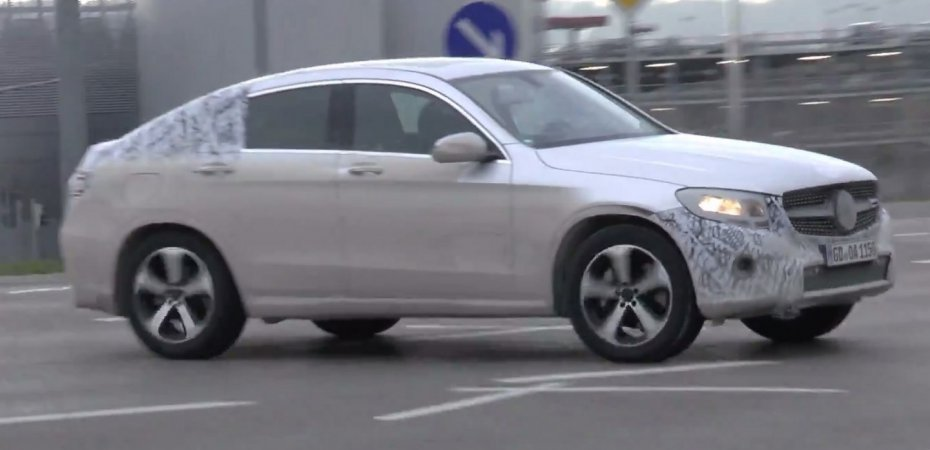 Mercedes GLC Coupe на тестах