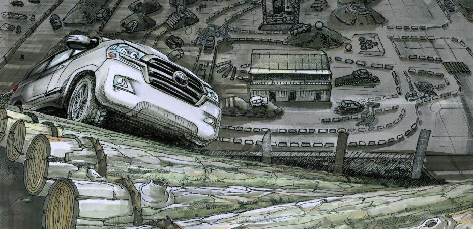 Внедорожные качества Toyota проверят в центре Москвы