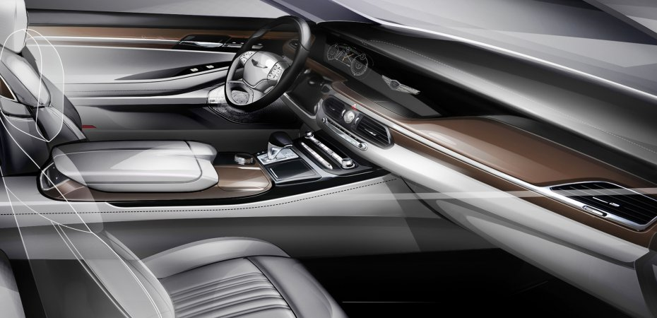 Hyundai показала интерьер G90