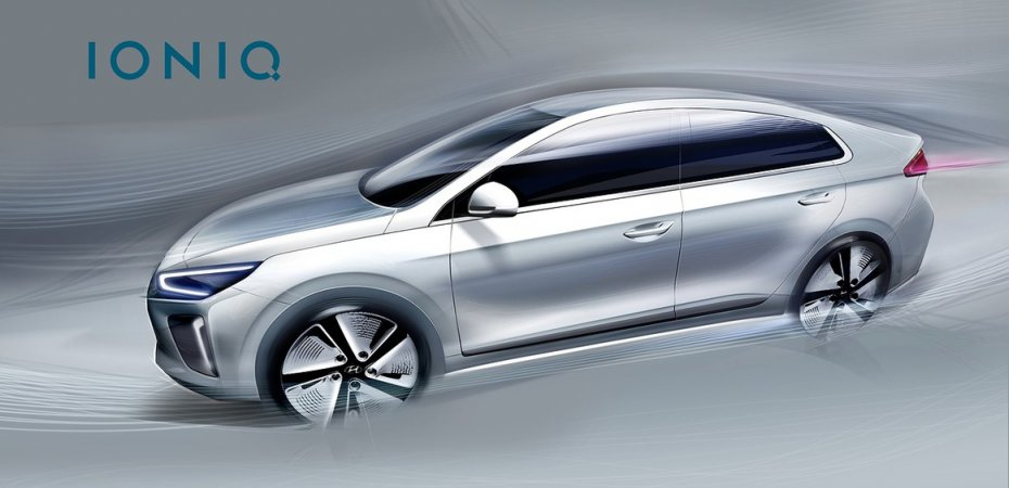 Первые рисунки Hyundai IONIQ