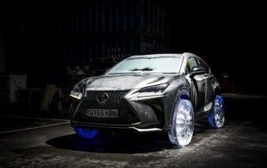 Lexus NX на ледовых колесах
