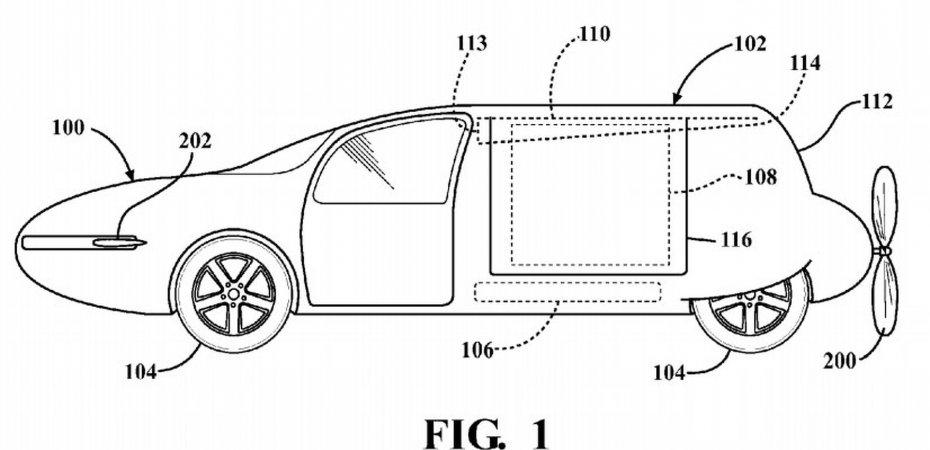 Toyota запатентовала летающий авто