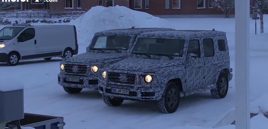 Видео нового Mercedes G на тестах