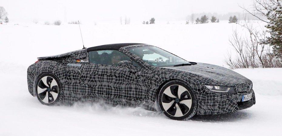 BMW i8 Spyder на тестах