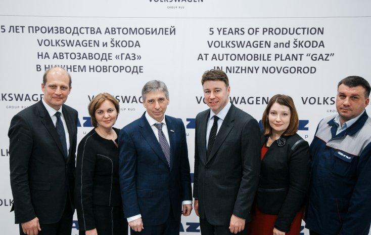 ГАЗ и Фольксваген подчеркнули 5-летние сотрудничества, выпустив 170 000 машин