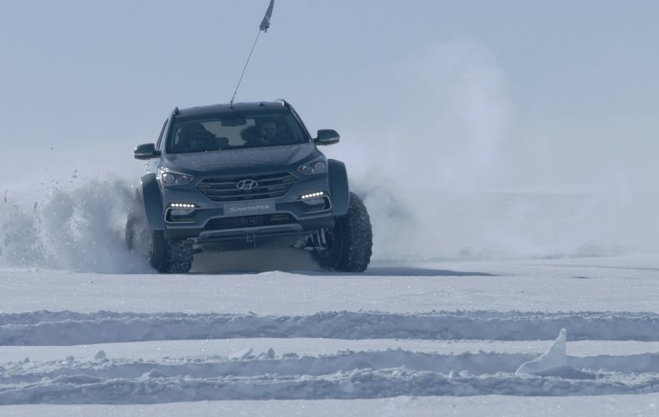 Хёндай Santa Feстал первой легковушкой, пересекшей Антарктиду